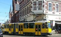 Straßenbahn in der Altstadt von Berlin-Köpenick