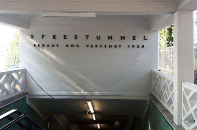 Eingang zum Spreetunnel